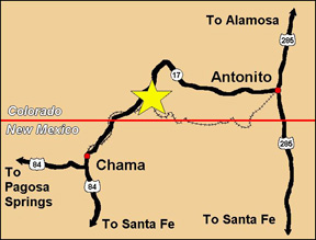 cumbres adventure tours map