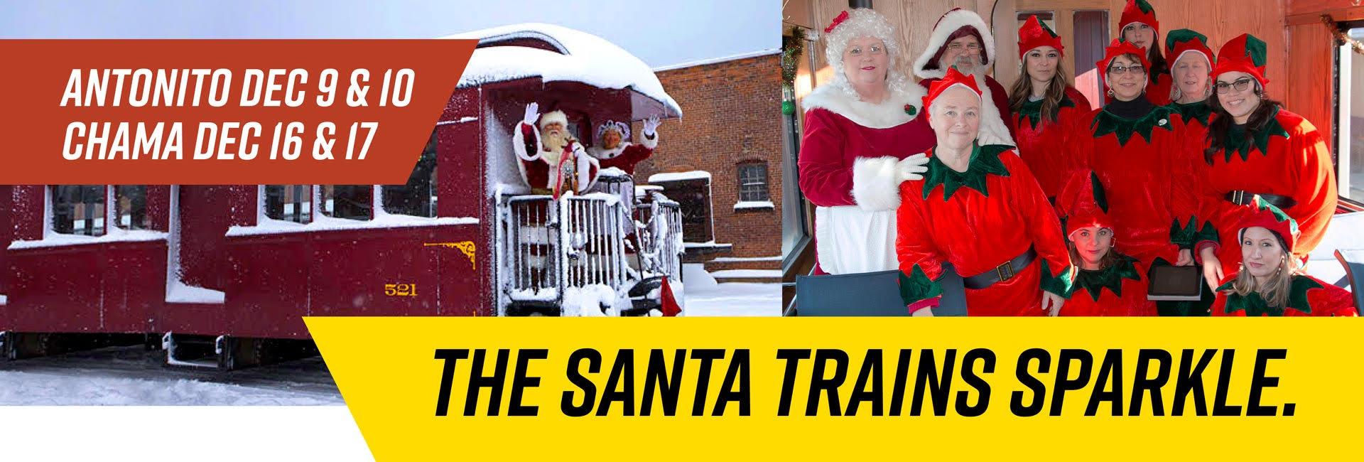 Slider #1 Santa Trains Sparkle